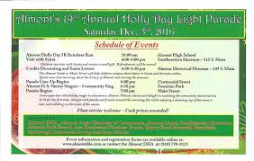 holly day light parade u0026 events