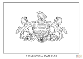 flag of pennsylvania coloring page free printable coloring pages