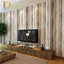 Vintage Home Decor Wholesale Wholesale Mediterranean Vintage 3d Textured Wood Striped Wallpaper