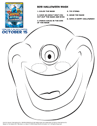 printable halloween masks to color coloring pages kids