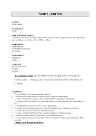 Front Desk Hotel Cover Letter Hotel Auditor Jobs Resume Cv Cover Letter