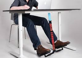 How To Stop Swivel Chair From Turning Hovr The Under Desk Swing For Your Feet Aims To Make Fidgeting