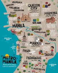 Metro Manila Map by Reg Silva