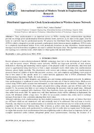 distributed approach for clock synchronization in wireless sensor net u2026