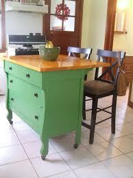 repurposed dresser to chevron kitchen buffet with butcher block
