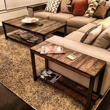 Nice Little Trifecta Table Set Custommade To Fit This Couch - Living room coffee table sets