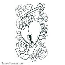 heart tattoo coloring pages danielhuscroft com