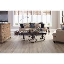 Floating Floor Lowes Shop Stainmaster 10 Piece 5 74 In X 47 74 In Washed Oak Cottage