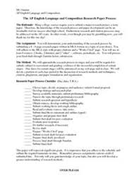 The AP English Language and Composition Research Paper Activities  amp  Project Lesson Planet