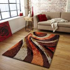 Multi Colored Bathroom Rugs Floors U0026 Rugs Brown Orange And Ivory Shag Rugs For Minimalist