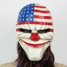 2015 halloween masks cosplay american flag clown cool resin army