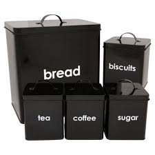 denny international 5 piece kitchen storage includes bread bin