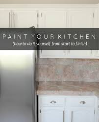 LiveLoveDIY How To Paint Kitchen Cabinets In  Easy Steps - Can you paint your kitchen cabinets