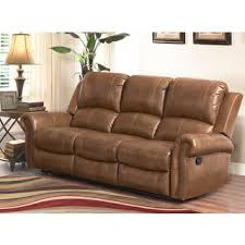 abbyson broadway premium top grain leather reclining sofa and