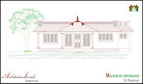 architecture kerala 3 bhk single floor kerala house plan and
