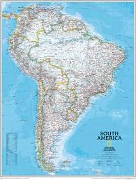 Political Map Of South America Political South America Wall Map Large Size Central And