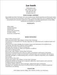 Resume Templates  Auto Body Technician Resume