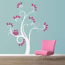 Bedroom Wall Decals Trees Swirly Owl Tree Wall Decal