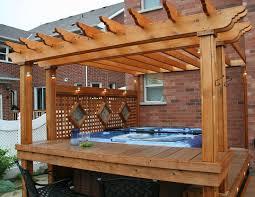Deck Pergola Ideas by Tub With Deck Pergola Backyard Dreams Pinterest Deck