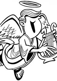 harp coloring page 39 best free coloring pages images on pinterest free coloring