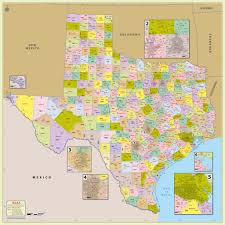 New Mexico County Map Buy Texas Zip Code With Counties Map