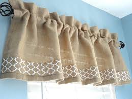 burlap valance window valance housewares window treatment kitchen