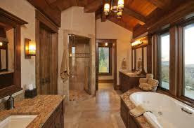 small bathroom elegant rustic bathroom ideas with large block