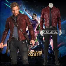 Halloween Costume Leather Jacket Aliexpress Buy Guardians Galaxy Peter Quill Star Lord