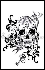 owl sugar skull tattoo design photos pictures and sketches