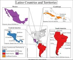 Latin America Map Labeled by Latino Wikipedia