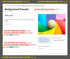 How to Add Custom Backgrounds to the Thesis WordPress Theme DIYthemes custom background sample on the Thesis Theme