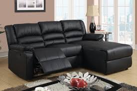 Black Leather Couch Living Room Ideas Amazon Com Black Bonded Leather Sectional Sofa With Single