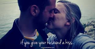 husband kiss