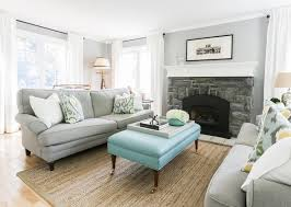 Yellow And Gray Living Room Rugs Blue And Gray Living Room With Bench As Coffee Table