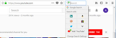 Как удалить search bar из мозили?