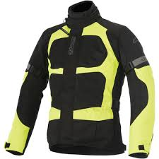 fluorescent bike jacket alpinestars santa fe air drystar motorcycle jacket black