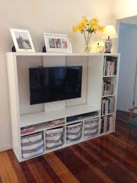 Ikea Wicker Baskets by Ikea Lapland Tv Unit With Books And Storage Baskets Living Room