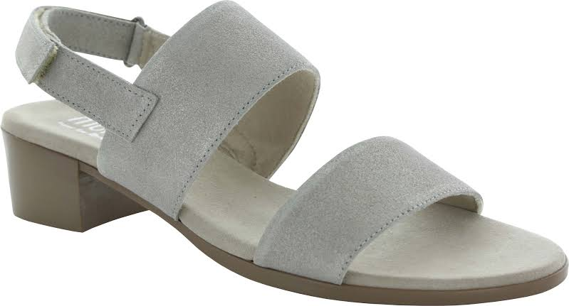 Munro Kristal Suede Open Toe Casual Ankle, Champagne Shimmer,