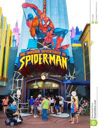 Orlando Universal Studios Map by Spiderman Ride At Universal Studios Islands Of Adventure Editorial