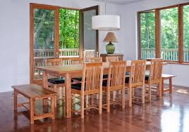 dining room table seats 8 astonishing ideas square dining table long dining table mission style dining room set with wooden bench seat and 8 chairs with black leather seats and white hanging lamp plus hardwood floor