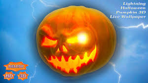 halloween hd live wallpaper lightning halloween pumpkin 3d android apps on google play