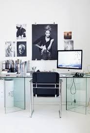 impressive modern home office showcasing tempered glass desk