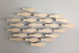 Nautical Home Accessories Fish Shoal Wall Art