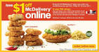 McDonalds McDelivery $1 Promotion | Singapore Everyday On Sales