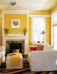 Brown And Yellow Living Room by Living Room Gorgeous Yellow Living Room Natural Concreat Mantel