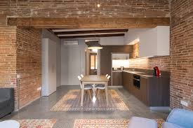 Fake Exposed Brick Wall Reforma Interior A L U0027eixample Hydraulic Cement Tiles Polished