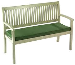 furniture adorable green bench seat cushion for white bench