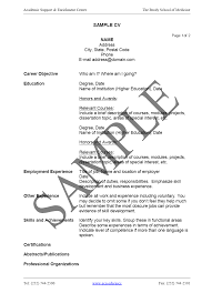 student resume format for campus interview curriculum vitae tips and samples recentresumes com format of curriculum vitae cv curriculum vitae format
