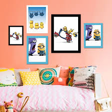 aliexpress com buy cartoon art print poster minions wall
