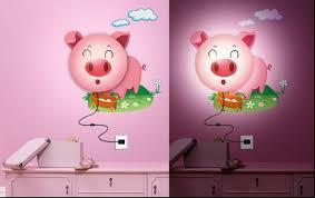 DIY Lamps With Sitckers Cartoons Animate Your Kids Room DesignRulz - Kids room lamp